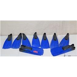 Qty 9 Size XS 3-5 Swim Fins