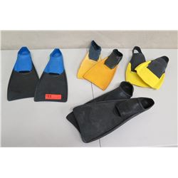 Qty 8 Dive Fins: Floating Brand & CM