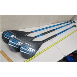 Qty 3 NSP 6' Stand-Up SUP Paddle (handles do not lock)