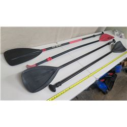 Qty 4 Blue Planet 6' Stand-Up SUP Paddle (handles do not lock)