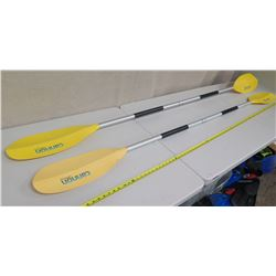 "Qty 2 Cannon 7'4"" Kayak Paddles"