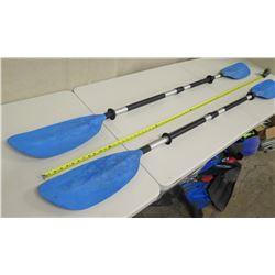 "Qty 2 Blue 6'5"" Kayak Paddles"