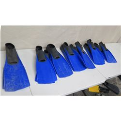 Qty 14 Sea Sports Swim Fins: 12 Small & 2 Large