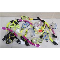 Qty Approx. 9 Masks & Sea Sports Snorkels