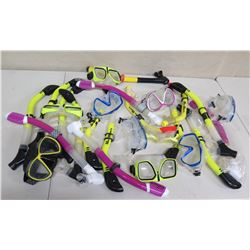 Qty Approx. 9 Masks & Sea Sports Snorkels