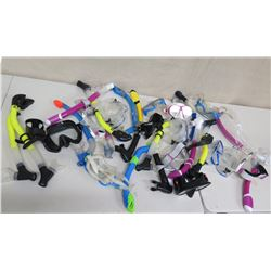 Qty Approx. 8 Masks & Snorkels