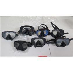 Qty 7 Clear Masks:  Apnea, Sea Sports, etc