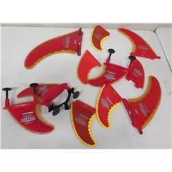 Qty 11 Misc Size Proteck SuperFlex Performance Fins Skegs