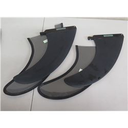 Qty 2 Surftech Skegs Surfboard Fins w/ Covers