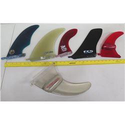 Qty 6 Skegs Surfboard Fins: FCS, Island Fin, Fluid Foil, etc
