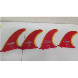 Qty 4 Misc Size Proteck SuperFlex Performance Fins Skegs