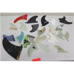 Qty Approx. 24 Skegs Surfboard Fins: Proteck, FCS, etc