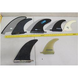 Qty 5 Fins Skegs: FCS, Boardworks, Surftech, etc (3 w/ Covers)