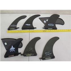 Qty 6 Fins Skegs: Arrow, Surftech, etc (2 w/ Covers)