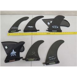 Qty 6 Fins Skegs: Arrow, Surftech, etc (2 w/ Covers)