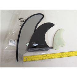 Boardworks Skeg Surfboard Fins w/ Cover & Small Fin
