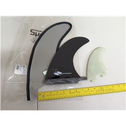 Boardworks Skeg Surfboard Fins w/ Cover & Small Fin
