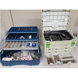 Qty 2 Toolboxes & Contents: Festool Drill/Driver, Bits, Screws, Sockets, etc
