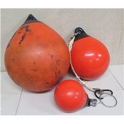 Qty 3 Misc Size Orange Floats