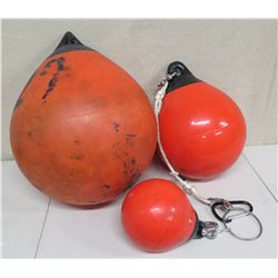 Qty 3 Misc Size Orange Floats