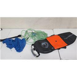 SporaSub Spearfishing Float, Cable & Mesh Bag