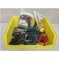 Bin of Tools: Wrenches, Pliers, Measuring Tape, Wire Cutters, etc