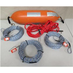 Qty 3 CE Line 100', Orange Float & Cable