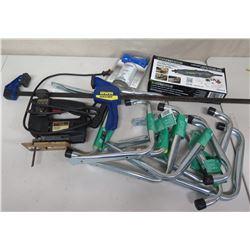 Skil Classic Jigsaw, Irwin Quick Grip, Genesis Rotary Tool, Rails, etc