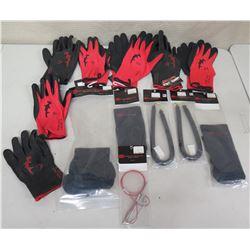 Qty Approx. 7 Pair Hammerhead Gloves, Spearguns Coil Bands, Socks, etc