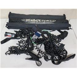 Qty 2 Malibu Kayaks Accessories & Multiple Leashes