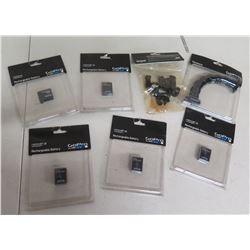 Qty 4 GoPro Rechargeable Batteries, Gooseneck & Handlebar Pole Mount