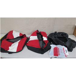 Qty 2 Dive Flag Duffle Bags, Black Bag & National Divers TR13 Valve