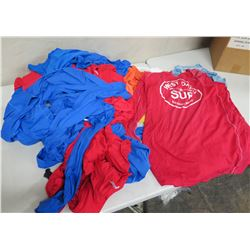 Multiple Red & Blue West Oahu SUP Long Sleeve Dive Shirts