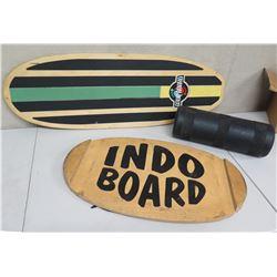 Qty 2 Surfboard Wall Hangings: Goofboard & Indo Board