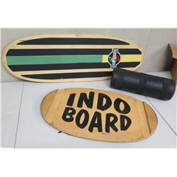 Qty 2 Surfboard Wall Hangings: Goofboard & Indo Board