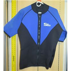 "Sea Sports Short Sleeve Wet Suit Top 34"" Long"