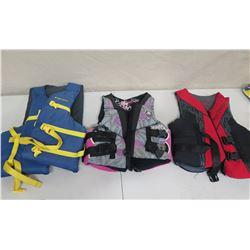 Qty 3 Life Vests: Body Glove, West Marine, Full Throttle
