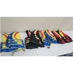 Qty 4 Life Vests: 3 America's Cup World Team & Ocean Jump