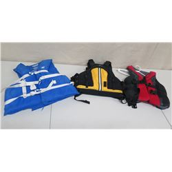 Qty 3 Life Vests: Surftech, Full Throttle