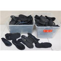 Qty 2 Bins Black Reef Walker Shoes