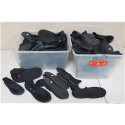 Qty 2 Bins Black Reef Walker Shoes