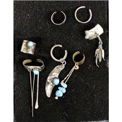 7 Native American Navajo Sterling Ear Cuffs