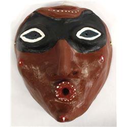 Slab Pottery Mask of Amazon Rain Forest Warrior