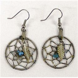 Navajo Turquoise Dreamcatcher Earrings