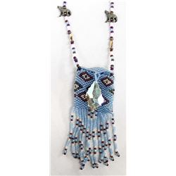 Beaded Pouch Pendant Necklace