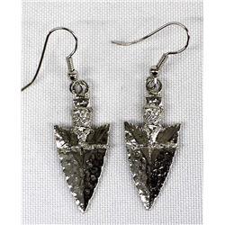 Silvertone Arrowhead Earrings