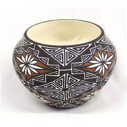 Native American Acoma Eye Dazzler Pottery Bowl
