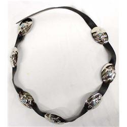 Native American Navajo German Silver Concho Belt