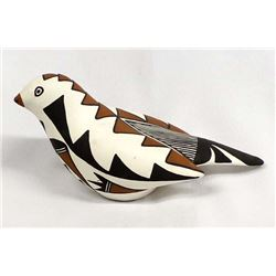 Acoma Hand Painted Ceramic Pottery Bird