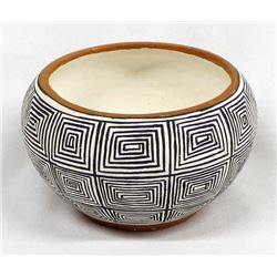 Native American Acoma Pottery Bowl by Lewis